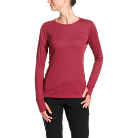 VAUDE Sveit LS Shirt Damen red cluster